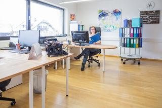 Die Salzburgerin Viktoriy Meyer erledigt Büroarbeiten als Selbstständige.