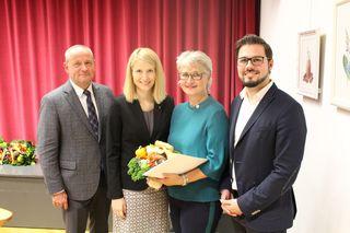 Gemeinde- u. Bezirksparteiobmann Wolfgang Stanek, Landesrätin Christine Haberlander, Renate Kapl, Markus Langthaler.