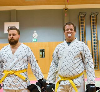 Michi Selos (rechts) mit Biss: durch den Sieg im Freikampf, sowie weitere Top-Platzierungen in den Kampfbewerben konnte er sich heuer erstmalig zum Grand Champion küren, dicht gefolgt von Sascha Enke (links).