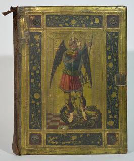 Fälschung eines mittelalterlichen Bucheinbandes von Icilio Federico Joni des Universalmuseum Joanneum Graz