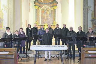 Das Vocalensemble Mittendrin aus St. Michael.