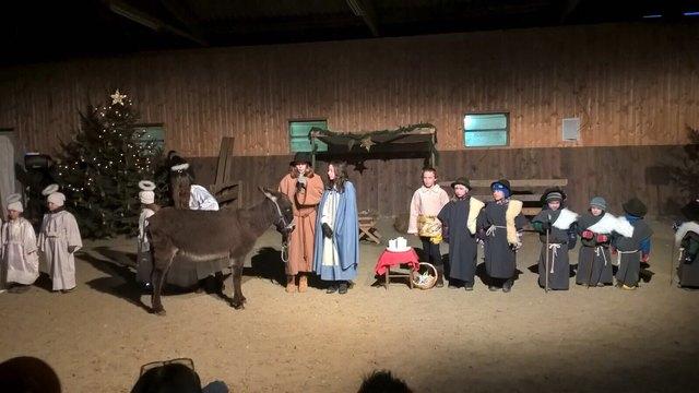 Am 16. und 17. Dezember haben Kinder, Schafe, Esel, Ponies und Pferde ihren weihnachtlichen Auftritt.