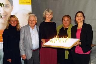 Von links: Viktoria Tischler, Herbert Loher, Eva Maria Gattringer, Ulrike Parnreiter, Doris Aumüller