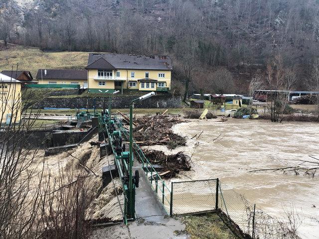Schlimm: Das Föhnsturm-Einsatzgebiet Eisenkappel