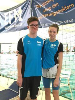Mitten in der Elite: Dorian Windhager und Livia Obermeier in der Auster in Graz.