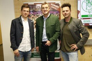 Die Vorfreude steigt: Franz Tonner (Mitte), Deni Alar (links) und Richard Schlögl (rechts) präsentierten die Programmhöhepunkte.