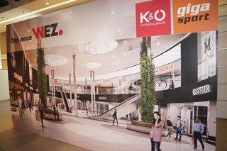 Die neue Shopping-Mall nimmt Formen an, im Jänner siedelt Gigasport ins Erdgeschoss.