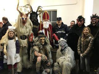 Der Nikolaus mit seinen finsteren Gesellen war gerne gesehen in Preding.
