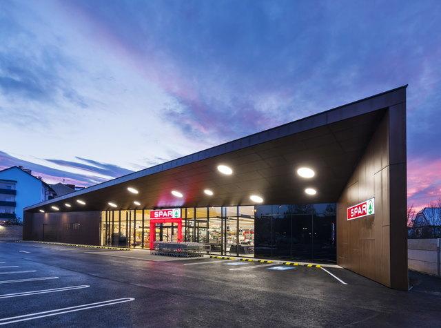 In nur drei Monaten wurde in der Fürstenfelderstraße von Gleisdorf ein komplett neuer Spar-Supermarkt gebaut.