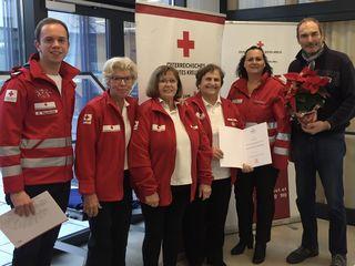 Dankbar für Blutspender: Daniel Rauchecker, Maria Hafner, Franziska Fuchs, Franziska Hack, Katrin Wiesinger, Johannes Hiller