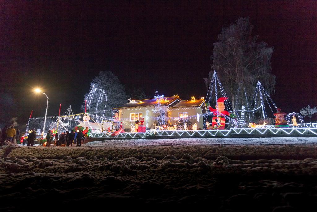 Haus Weihnachtsbeleuchtung.Weihnachtsbeleuchtung Unser Haus Gmund