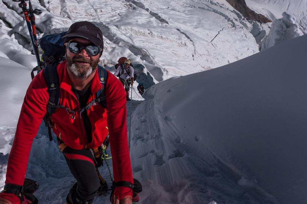 Manfred Weißengruber beim Aufstieg zum Manaslu in Nepal.
