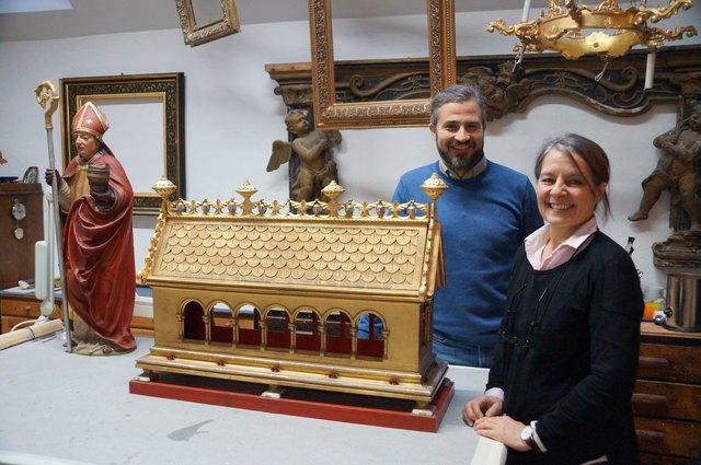 Ursula Thomann und Boris Golob geben ihr Wissen als Lehrbeauftragte auch an der Akademie der bildenden Künste Wien weiter.