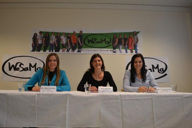 Marlene Zwanzger, Maria Lesjak und Cornelia Kössldorfer setzen sich für Obdachlose ein