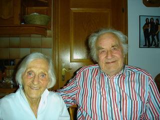 Josef und seine Gattin Erika Ammerer wurden beide 90 Jahre alt.