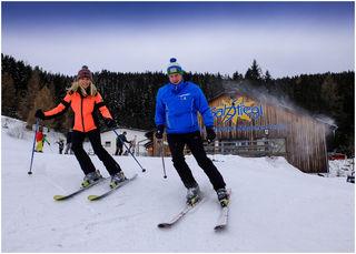 Skifahren in den Rucksackdörfern. Bei diesen Bedingungen ein richtiges Vergnügen.