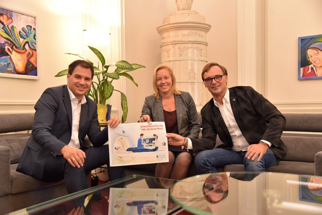 Der Einsatz von Michael Schickhofer, Verena Nussbaum und Weiz-Bürgermeister Erwin Eggenreich (v.l.) hat sich ausgezahlt. Weiz bekommt ein Magnetresonanz-Gerät.