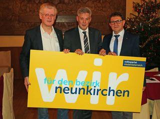 VP-BGF Hannes Mauser, LAbg. Hermann Hauer, Gemeindebundobmann Bgm. Rupert Dominik