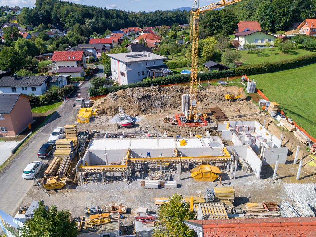 Das betreubare Seniorenwohnhaus in Lannach nimmt deutlich Formen an.
