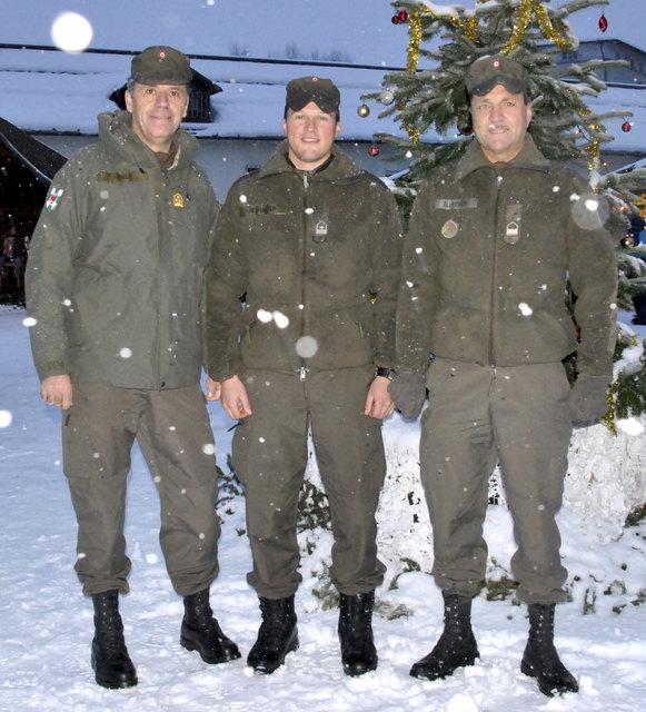 er stellvertretende Militärkommandant Gerhard Pfeifer, Organisator Stabswachtmeister Sebastian Eberharter und Vizeleutnant Peter Ellmerer.
