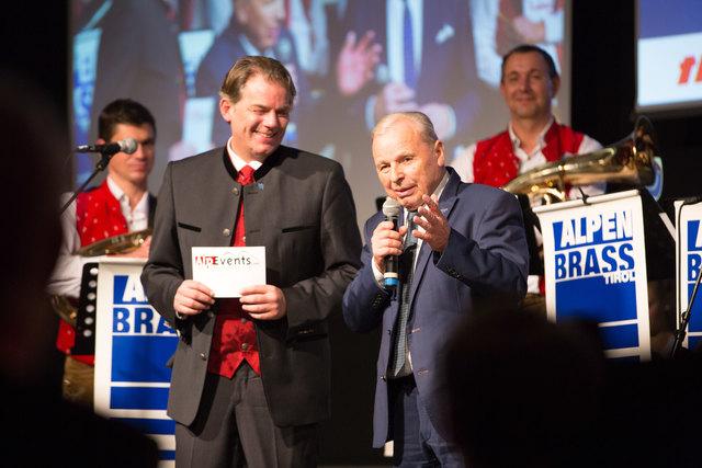 Hubert Trenkwalder mit Arthur Thöni.