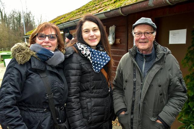 Maria und Fritz Zwölfer mit Maria Tham.