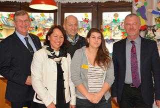 Herbert Eidelpes, Helga Marian, Florian Ladengruber, Julia Keller (freiwilliges Sozialjahr) und Klaus Pavlecka