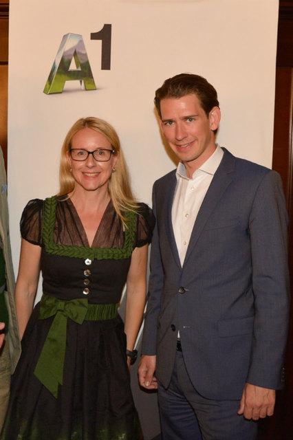 Der Kanzler und seine Tiroler Ministerin Margarete Schramböck.