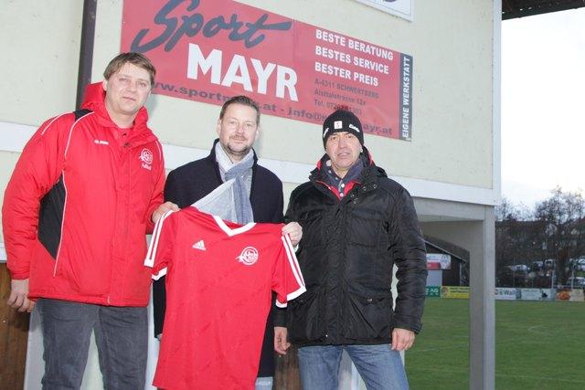 Ried-Sektionsleiter Matthias Wahl, Christian Lehner und Obmann-Stv. Wolfgang Derntl.