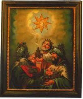 Die drei Weisen aus dem Morgenland, sie folgten dem Stern... (Bild der drei heiligen Könige, im Kölner Dom)
