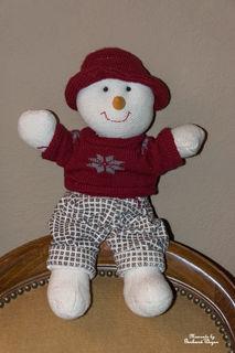 Wegen des akuten Schneemangel kann ich euch leider nur einen Stoff Schneemann zeigen! :-(
