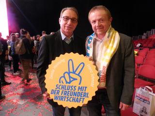 Kammerrat SPÖ Bezirksobmann Josef Wiesinger mit SWV Bezirksobmann Robert Porod