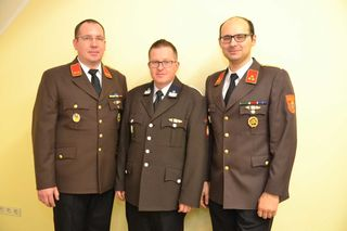 Das neue Kommando vl: OBI Christian Zeder, V Gerald Graf, HBI Jörg Voglsinger