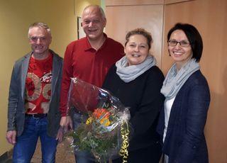 Elke Lang (2. von rechts) leitet seit Jahresbeginn 2018 das Olbendorfer Gemeindeamt.