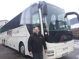 Bernhard Neu, vom Busunternehmen Neu Touristik, schließt aus, dass die Buswerbung für Mayr gratis oder billiger sein wird.