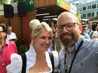 Teamwork: Isabella Edler (Glöckl Bräu) und Robert Helbig