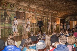 Modeschau der Hochzeitsmesse im Rittersaal auf Schloss Goldegg.