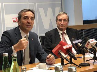 Michael Otter (li.), Leiter der Aussenwirtschaft Austria, und Christoph Leitl, WKÖ-Präsident.