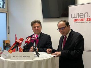 Stadtrat Ludwig (l.) genießt wohl, vorsichtig interpretiert, die Unterstützung von Ärztekammer-Präsident Thomas Szekeres als nächster Bürgermeister.
