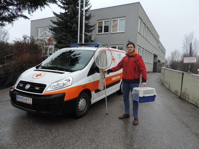 Franz auf dem Weg zu einem tierischen Rettungseinsatz