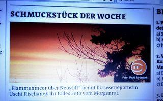 Mein Sonnenaufgang - :-)) im Print, ich freu mich so, vielen Dank!