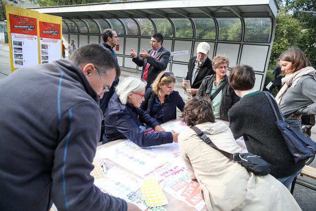 Gelebte Bürgerbeteiligung: Die Favoritner waren aktiv dabei, den Reumannplatz neu zu gestalten.