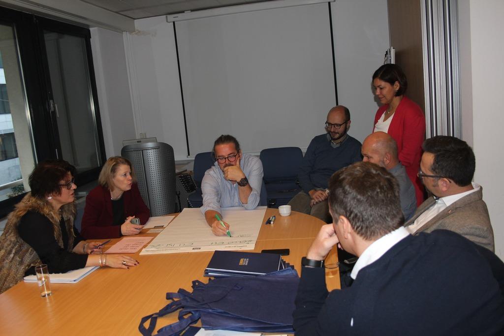 Im Europa-Parlament durften die 25 Gemeinderäte, darunter Andrea Hehenberger (l.), eifrig mitarbeiten.