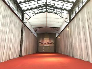 Künftig sollen in der Marx Halle vom Co-Working-Space bis hin zur Gastronomie unterschiedlichste Angebote zu finden sein.
