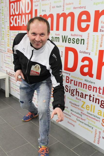 Johann Schmolz ist immer für ein Späßchen aufgelegt.