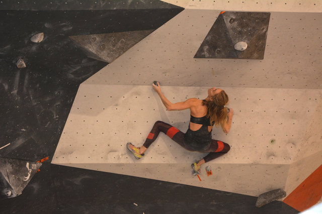 """Beim """"Steinbeißer""""- Wanderpokal wurde den Boulderern Biss und Durchhaltevermögen abverlangt"""