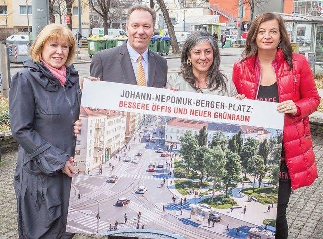 Im März 2017 wurde der Umbau am Johann-Nepomuk-Berger-Platz präsentiert, dieses Jahr geht das Projekt ins Finale.