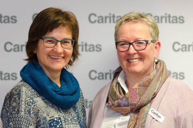 Die Suchtberaterinnen Ingrid Riegler (Scheibbs) und Anita Bernkopf (Amstetten) von der Caritas.