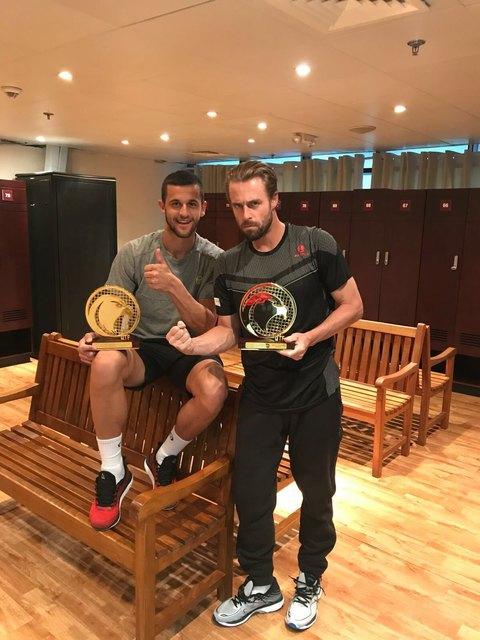2017 noch ungeschlagen: Pavic und Marach (r.) jubeln in Doha ...