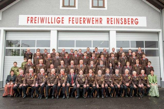 Jahreshauptversammlung in Reinsberg: Die Kameraden der Freiwilligen Feuerwehr blickten auf ein ereignisreiches Jahr zurück.